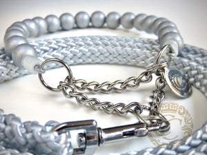 handmade dog collars silver classic mini | honden halsband | collarcrafts | collars & leashes