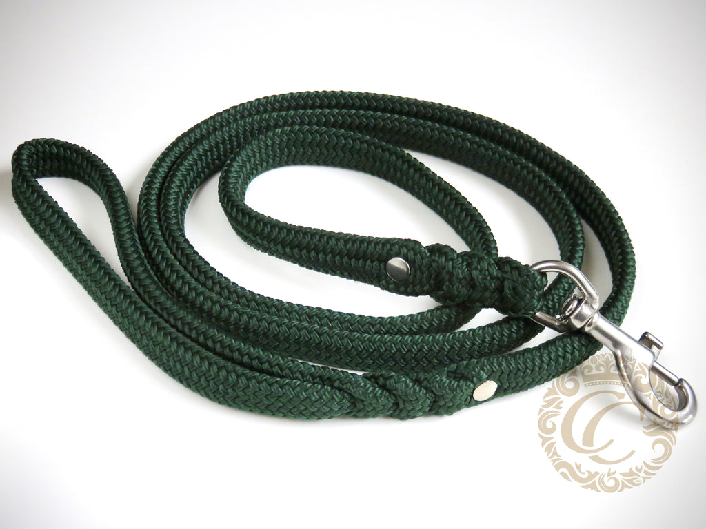 Dog leash for medium & large dogs Green | Dog Collars | Cat Collars | CollarCrafts