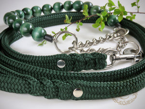 Handmade dog collar Emerald | Dog Collars | Leashes | CollarCrafts