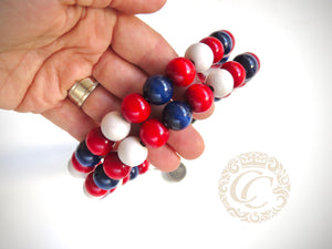 "Dog collar ""4th July"" 