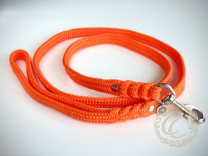 Handmade dog leash Orange | Dog Leashes | Dog Collars | Cat Collars | CollarCrafts