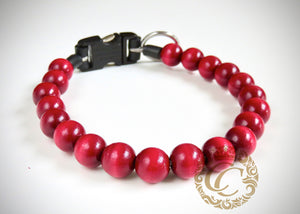 "Dog collar ""Bordeaux"" 