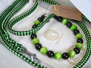 "Dog collar ""Black & Green"" 