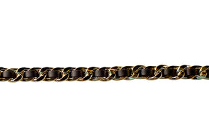 Iconic Gold with Black Weave Adjustable Handbag Chain