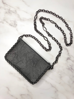 Lauren Classic Bag & Gunmetal Adjustable Chain