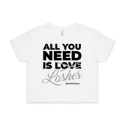 'All You Need Is Lashes' Cropped Tee