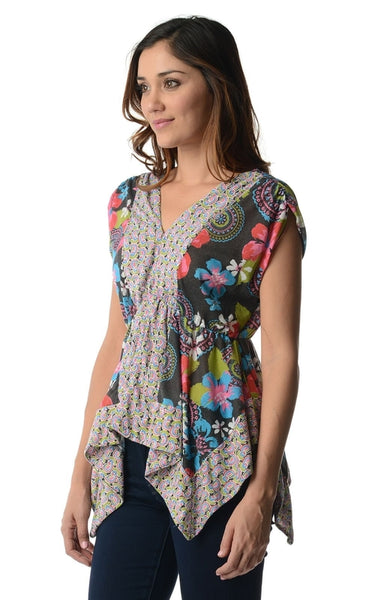 Women's Floral Printed Flutter Top-105 Hillside