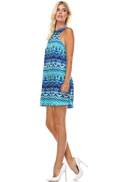 Women's High Neck Cut-Out Sleeveless Dress-105 Hillside
