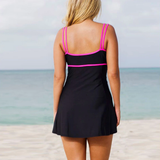 Women's Plus Size 2 Piece Tankini Dress Swimsuit HS229