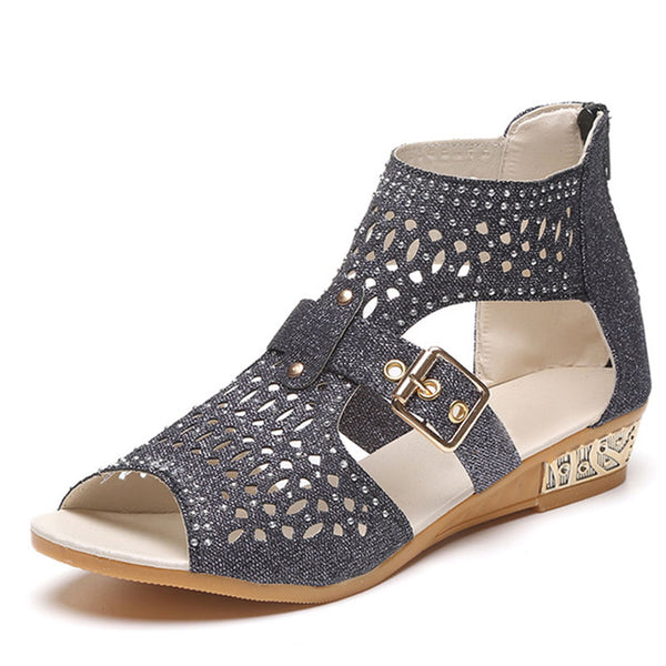 Women's Rome Boot Wedges-105 Hillside