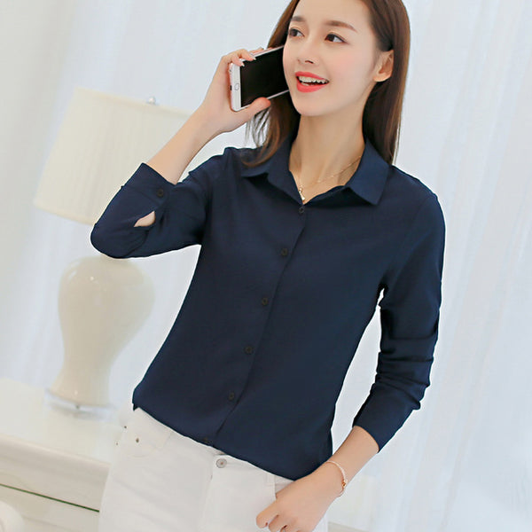 Women's Chiffon Office Blouse