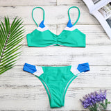 Women's Two Piece Patchwork Brazilian Bikini Swimsuit HS056-105 Hillside
