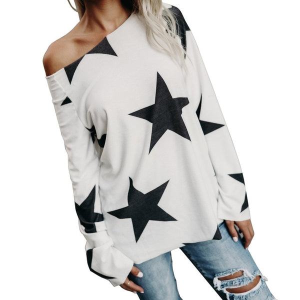 Women's Star Print Long Sleeve Shirt