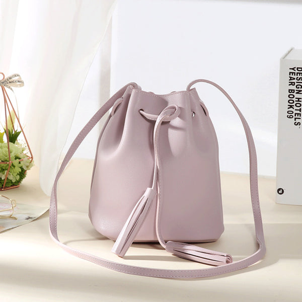 Tassel Shoulder Bucket Bag