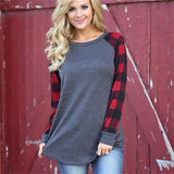 Women's Plaid Printed Long Sleeve Shirt