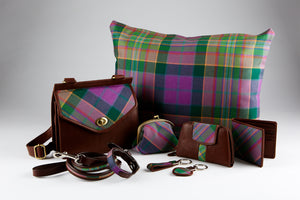 Peak District Tartan Key Ring - Heart