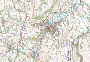 Around & About Bakewell & Chatsworth Park Yellow Walk Map