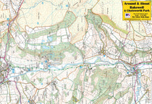Load image into Gallery viewer, Around & About Bakewell & Chatsworth Park Yellow Walk Map