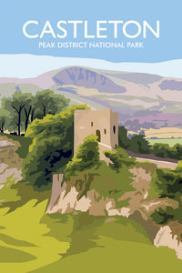 Peveril Castle Tea Towel