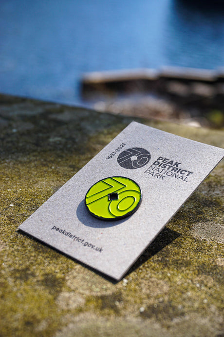 Peak District 70th Anniversary Lapel Pin