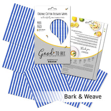 Load image into Gallery viewer, Beeswax Wraps (6 mini) by Good To Bee