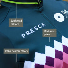 Load image into Gallery viewer, Women's Peak District Cycle Jersey - Teal Millstone