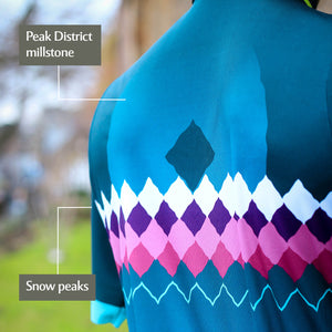 Women's Peak District Cycle Jersey - Teal Millstone