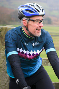 Men's Peak District Cycle Jersey - Teal Millstone