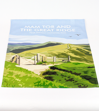 Load image into Gallery viewer, Mam Tor & The Great Ridge Tea Towel