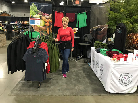 Mary at our booth. 72ND ANNUAL PORTLAND SPRING HOME & GARDEN SHOW THURSDAY-SUNDAY, FEB 21-24, 2019, BOOTH 1545