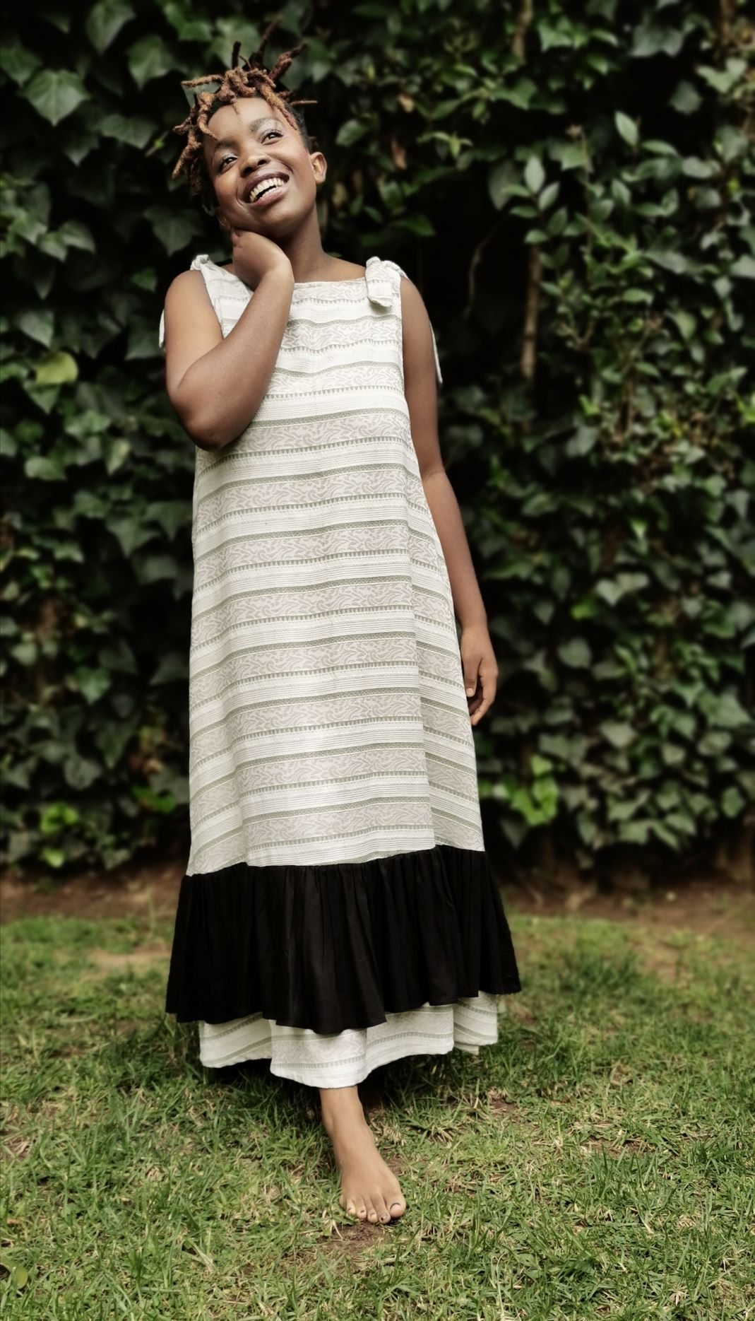 Mbhiri dress Retro Stripe