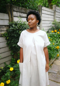Makoma Midi Dress Natural Linen