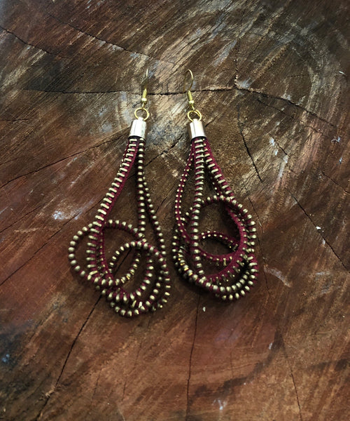 Zip earrings