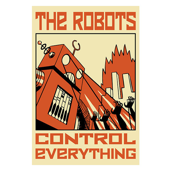 robots control everything sticker