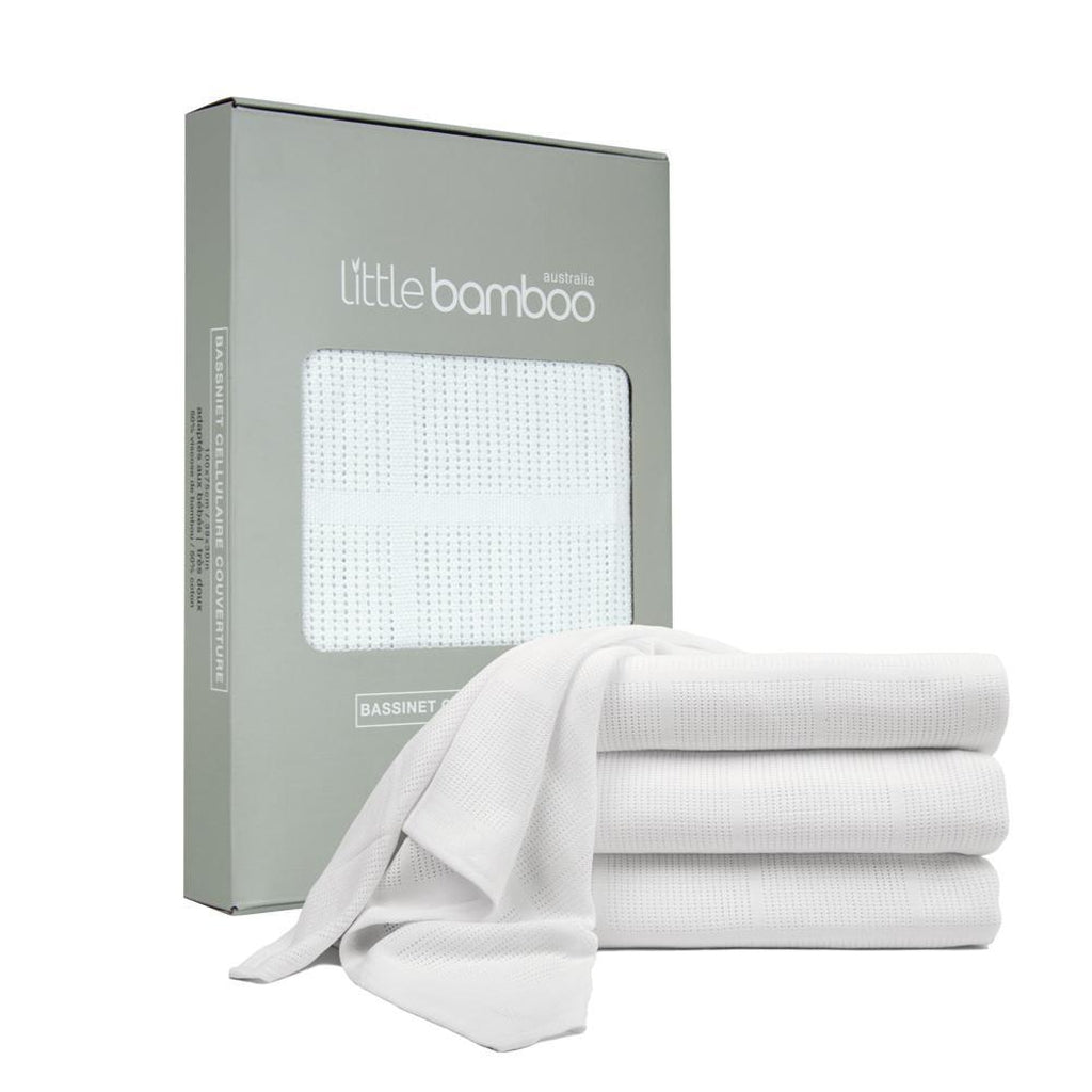 Little Bamboo Bassinet Cellular Blanket - Winkalotts