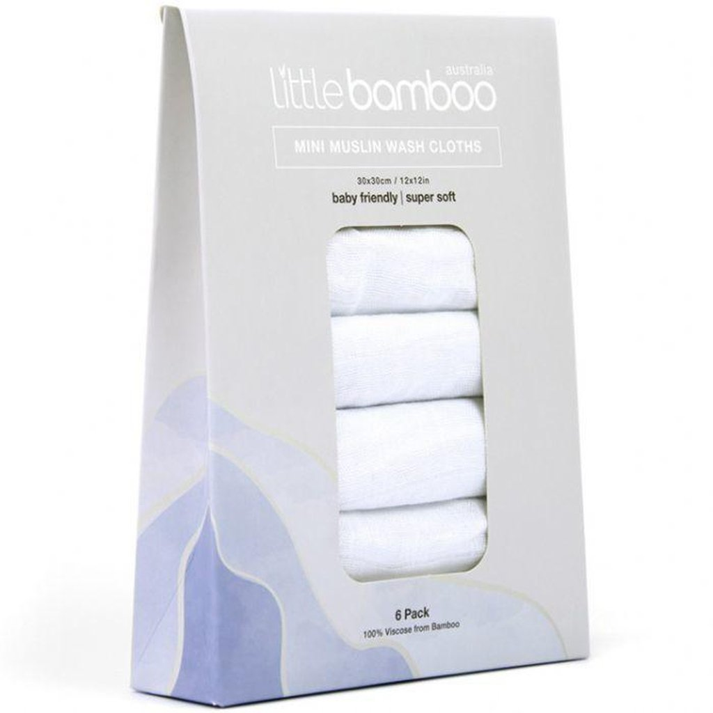 Little Bamboo Soft Muslin Wash Cloths - Winkalotts