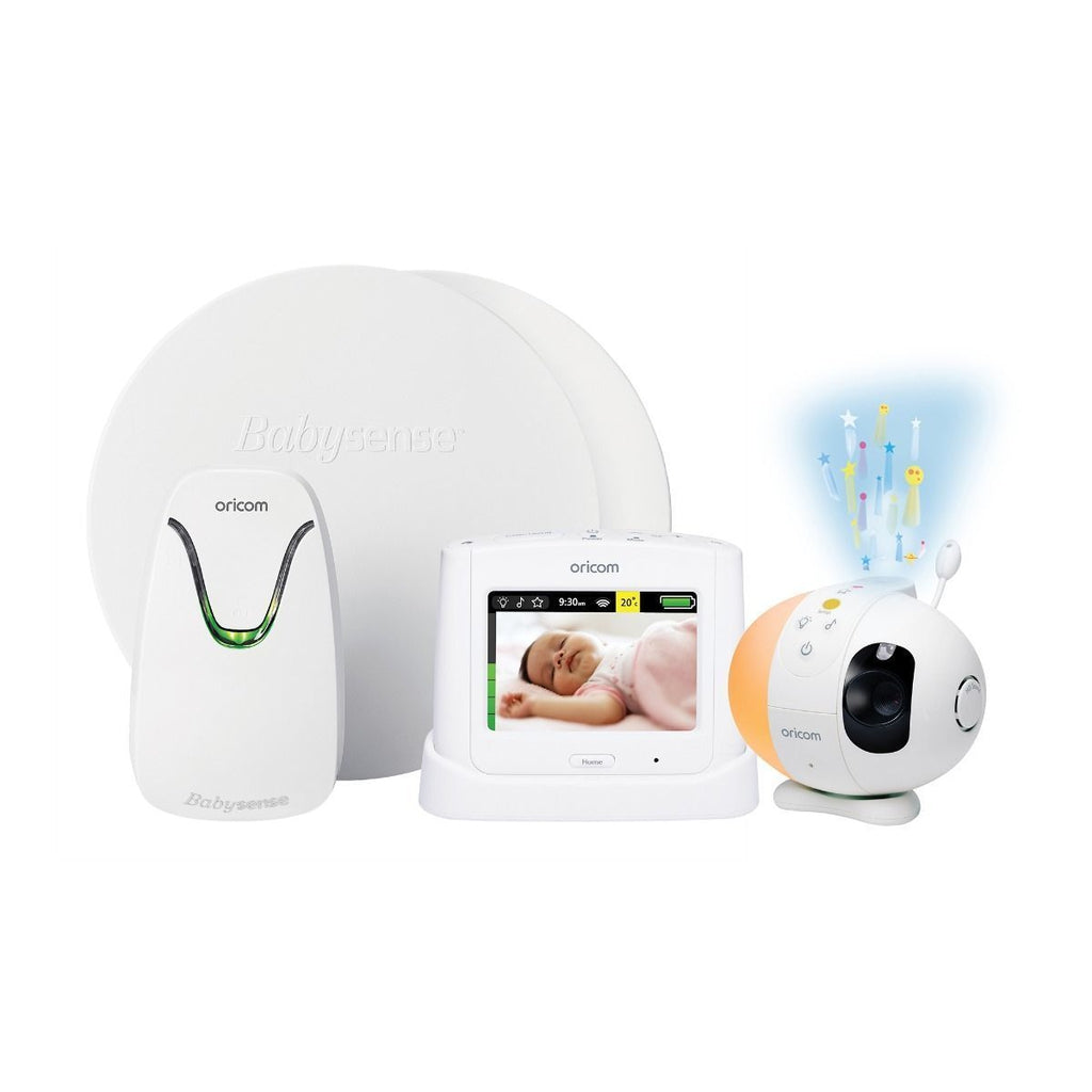 Oricom Babysense7 Breathing Movement Monitor & Secure870 Touchscreen Video Baby Monitor - Winkalotts