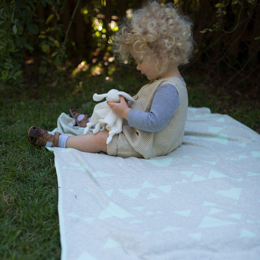 The Little Linen Company Large Knitted Blanket - Winkalotts