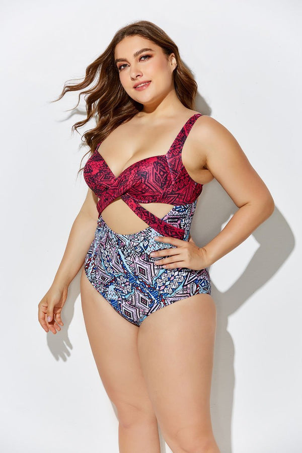 ORBIT CUT OUT UNDERWIRE ONE PIECE SWIMSUIT