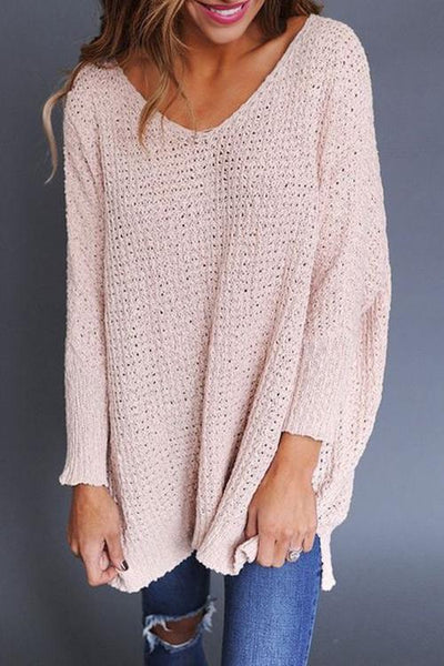 Chiczora Simple And Best Loose Knitted Sweaters