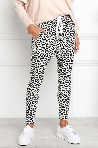 Chiczora Casual Women's Printed Leopard Pants