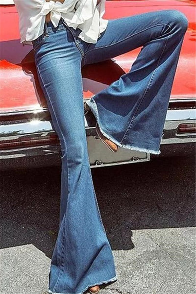 Chiczora 70's Elastic Bell Retro Bell Jeans