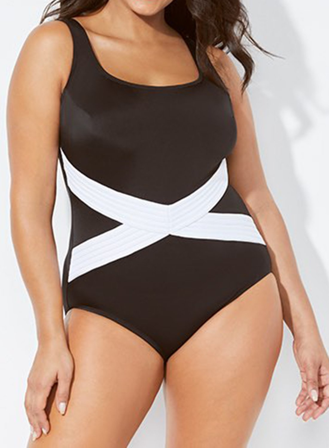 fd0225b402 Click to enlarge. Home Plus Size Swimsuits-190314 LONGITUDE CROSSROADS TANK  ONE PIECE SWIMSUIT