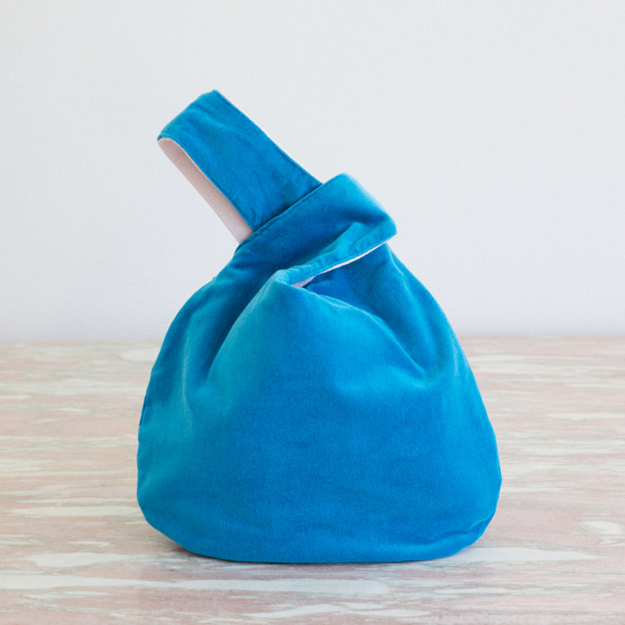 Velvet Knot Bag Small