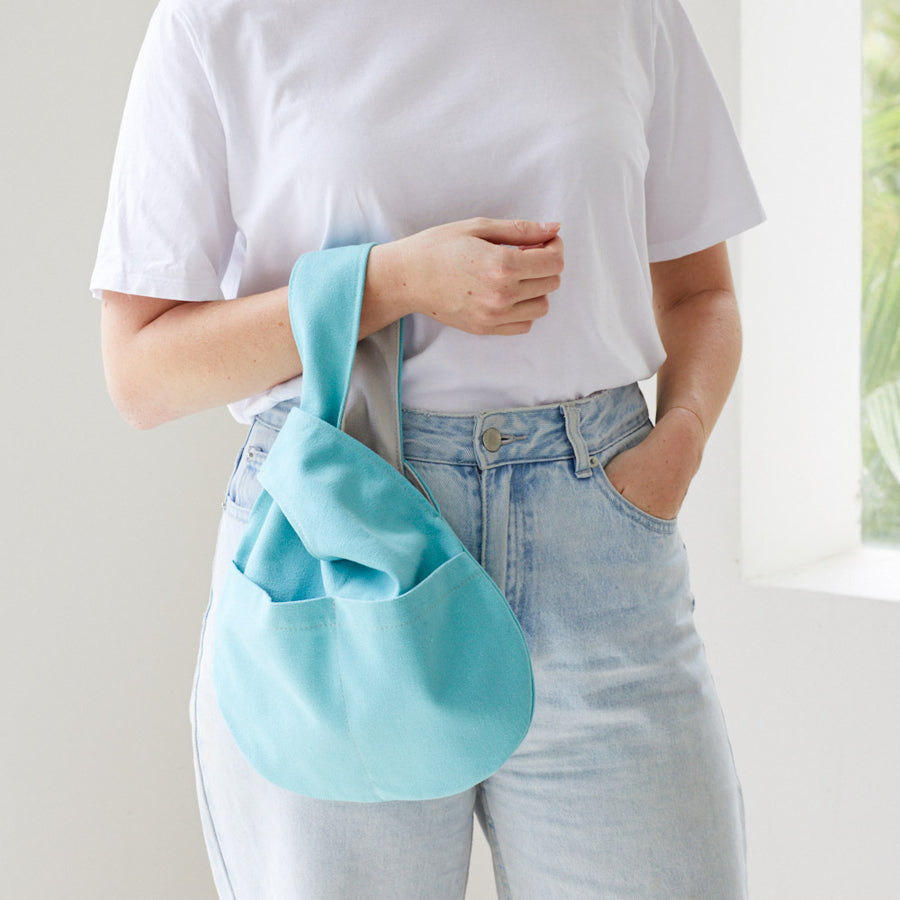Canvas Knot Bag Small