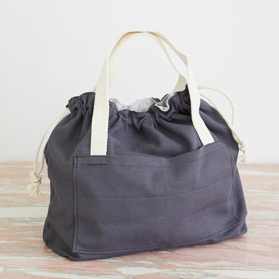 Canvas Drawstring Tote Large