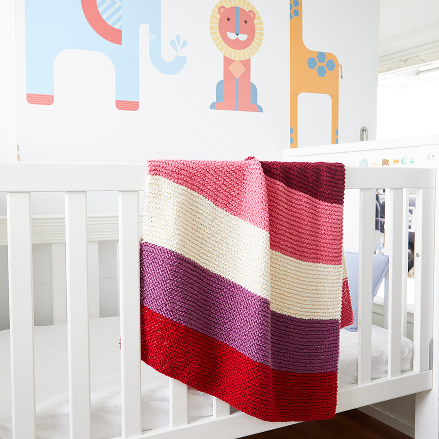 Chunky Striped Baby Blanket/Throw Kit