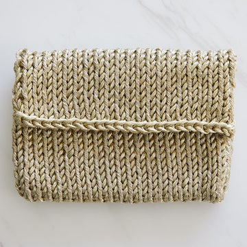 Knitted Metallic Clutch