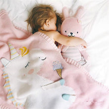 Load image into Gallery viewer, Soft Baby Unicorn Blanket