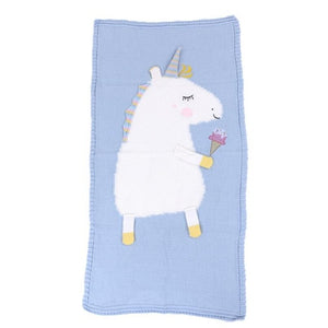 Soft Baby Unicorn Blanket